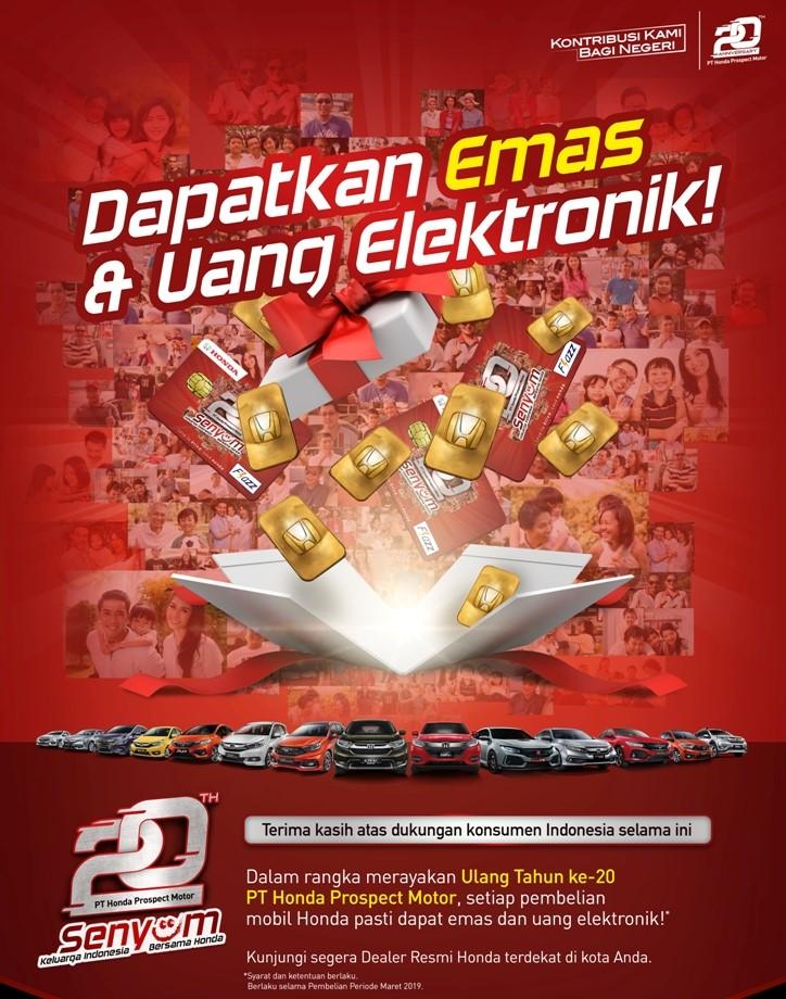 Promo Honda Kudus, Beli Mobil Honda Dapat Emas dan Uang Elektronik